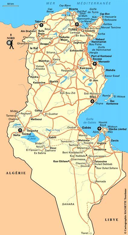 Carte De Tunisie Avec Villes by Cartograf Fr La Tunisie