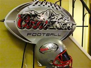 Coors Light Beer NFL Football Helmet Neon Bar Sign NEW