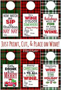 free printable holiday wine tags easy gift idea hip2save With free wine labels to print