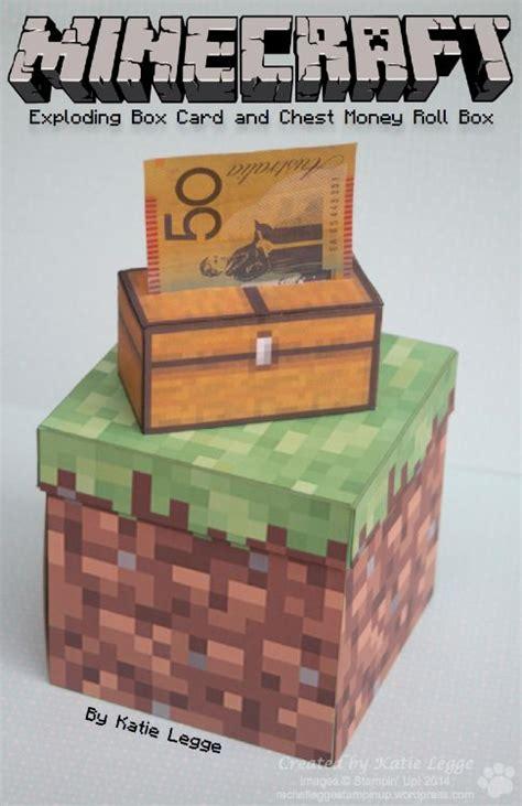 minecraft exploding box card minecraft money