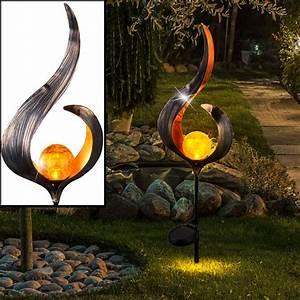Led Lampen Garten : 2x led au en steck leuchten solar lampen garten beet dekorationen flammen design ebay ~ A.2002-acura-tl-radio.info Haus und Dekorationen