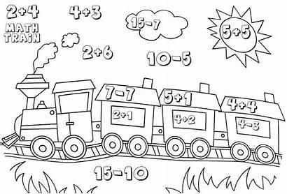 Kindergarten Math Worksheets Coloring Printable Pages Worksheet