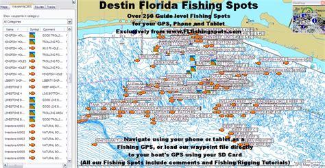 destin florida fishing map florida fishing maps  gps