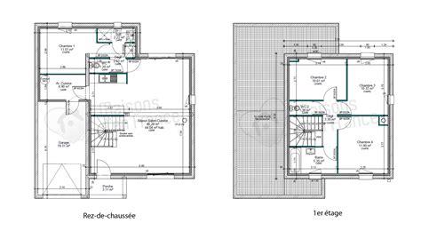 plan maison contemporaine toit plat le monde de l 233 a