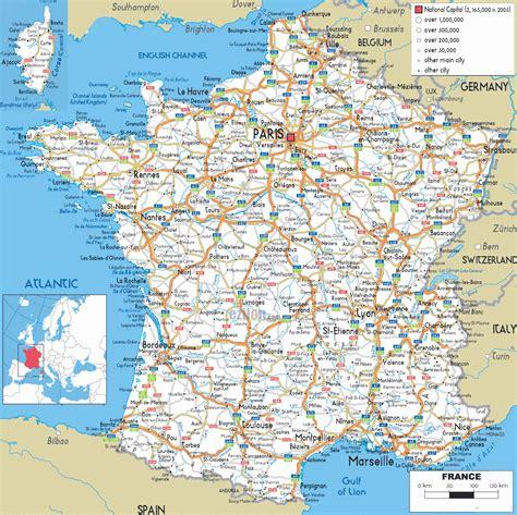 Carte De Avec Villes Principales Et Départements by Carte De Villes 187 Vacances Arts Guides Voyages