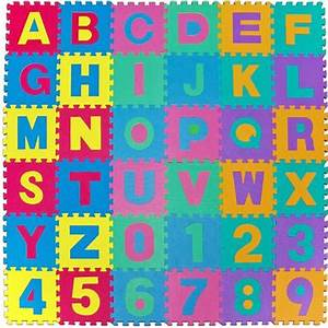 jigsaw play mat kids alphabet numbers letter 15x15 soft foam With letter mat