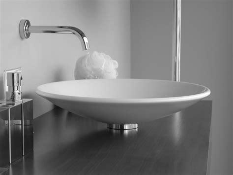 White Pedestal Sinks by Minosa Bathroom Washbasins