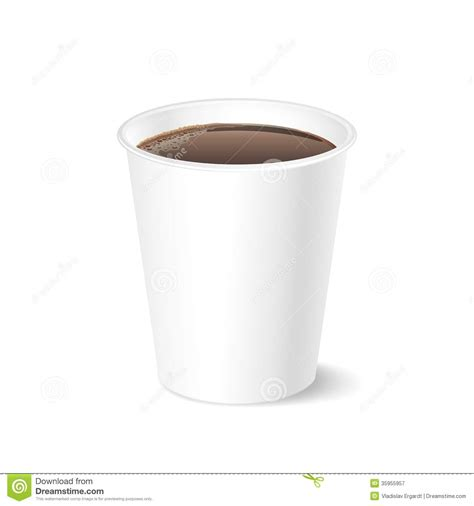 Opened Take out Coffee, Isolated On A White Royalty Free Stock Photography   Image: 35955957