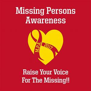 2017 Missing Persons Awareness Campaign Custom Ink Fundraising