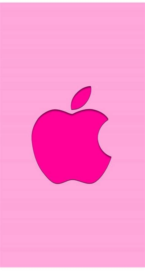 pink apple logo  beauty  pink apple logo