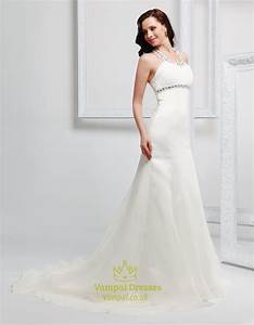 simple halter top wedding dresses for the beachwedding With halter beach wedding dresses