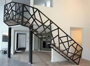 rampe aluminium decoupe laser escalier pinterest With peindre rampe escalier bois 9 yves deneyer menuiserie metallique ferronnerie