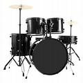 New 5-Piece Full Size Complete Adult Drum Set +Cymbal+Throne Black | eBay