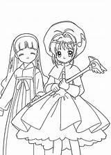 Coloring Anime Pages Sakura Printable Sheets Cardcaptor 4kids Manga Characters Doki Cute Ai Print Children источник sketch template