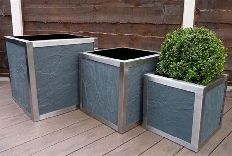 Designer Stainless Steel Frame Planters Big Sizes Online