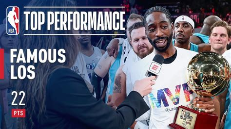 Famous Los Takes Home The 2019 Nba Celebrity Game Mvp