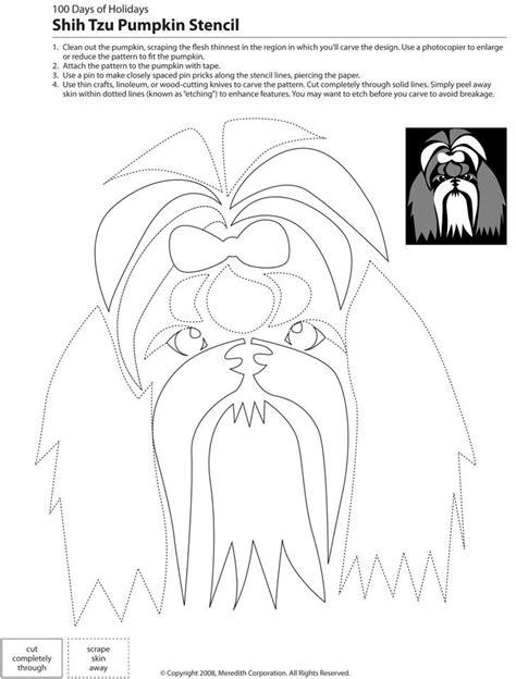 downloadable dog breed pumpkin stencils  images