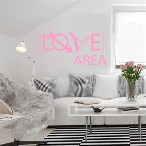 Bettwäsche Für Verliebte : wandtattoo love area ein bet rendes wandtattoo love area f r verliebte wall ~ Watch28wear.com Haus und Dekorationen