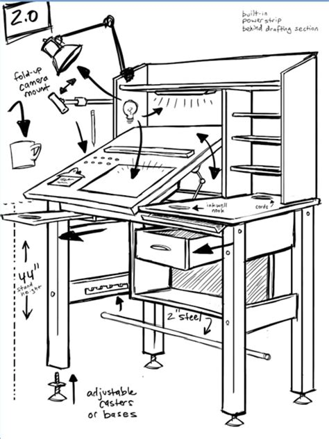 drafting table design plans diy blueprint plans