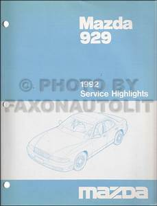 1992 Mazda 929 Repair Shop Manual Original