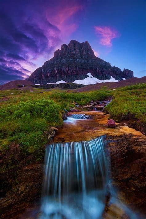 glacier national park montana water states united fall canada waterfall alberta visit banff johnston canyon