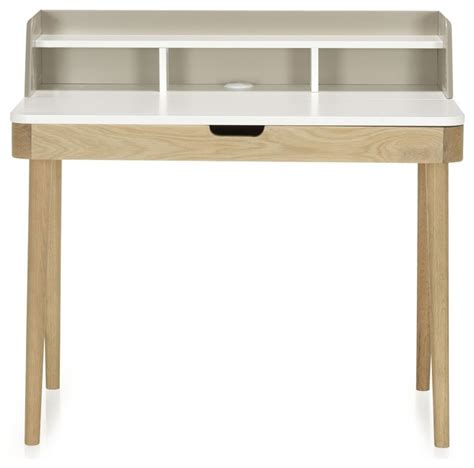bureau scandinave alinea kinna bureau avec rehausse et tiroir à clapet scandinave