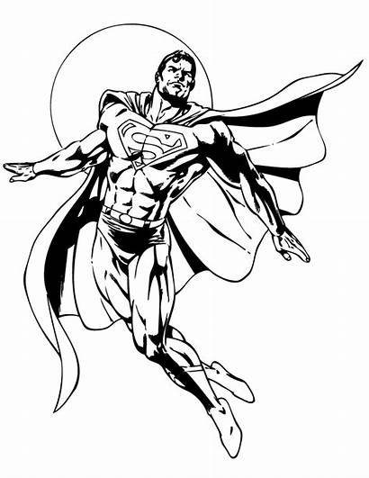 Superman Coloring Clipart Teenagers Cartoon Comic Pages