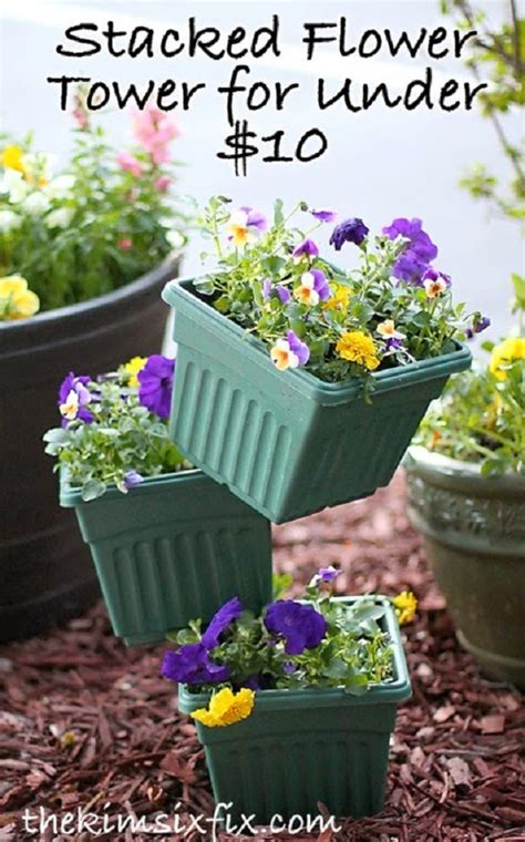Diy Tipsy Vertical Pot Planter Projects Instructions