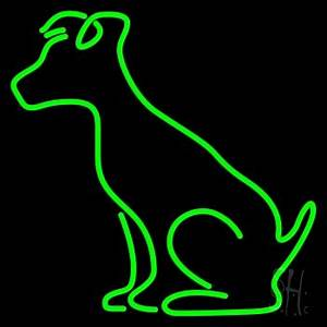 Green Dog Neon Sign