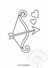 Bow Arrow Valentine Coloring Valentines Coloringpage Eu sketch template