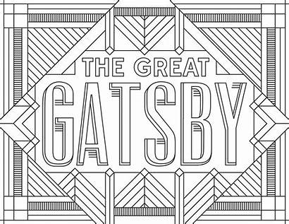 Coloring Adult Gatsby Pages Posters Books Inspired