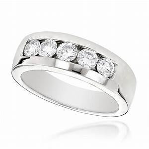 18k gold men39s diamond wedding ring 1ct With men wedding ring diamond