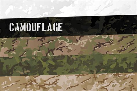 military camouflage patterns sets patterns  creative market
