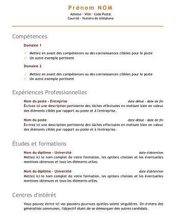 Cv Par Competences Exemples Gratuit by Exemple De Cv Competences