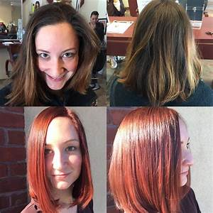 Transformation From Mousy Brown To Bold Red Hair Color