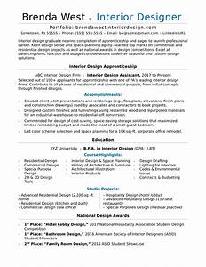 interior design resume sample monstercom With best interior designer resume