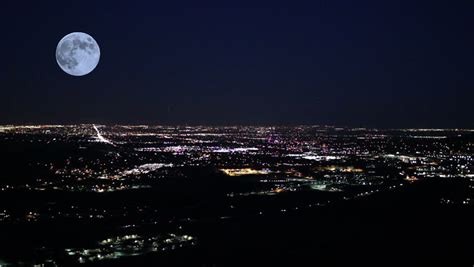 time lapse  moon rising  los angeles stock footage