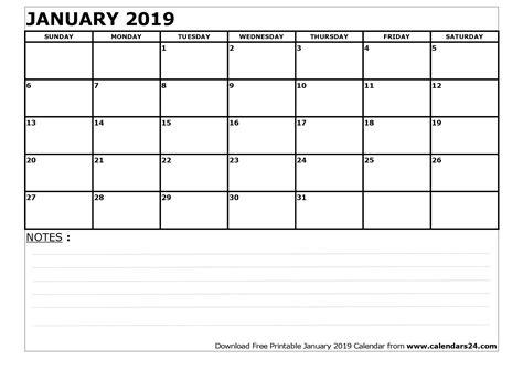 January 2019 Calendar & February 2019 Calendar