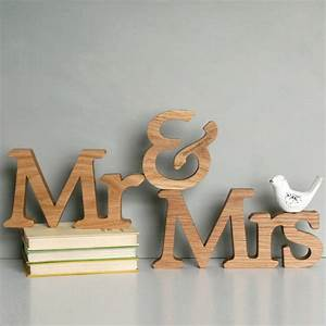 Personalised mr and mrs letters by modo creative for Personalised mr and mrs letters