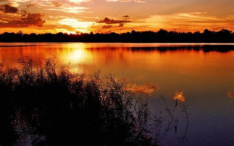 Beautiful Lake Sunset Hd Wallpapers For Computer Desktop
