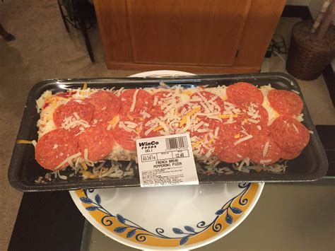 WinCo Foods French Bread Pepperoni Pizza Review - YouTube