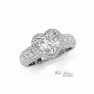 paloma engagement ring heart shaped diamond With heart shaped wedding rings