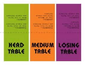 Free Printable Bunco Table Cards