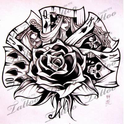 marketplace tattoo royal flush  createmytattoocom