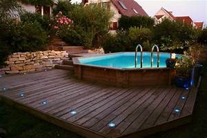Piscine Semi Enterrée Coque : installation piscine bois hors sol aquamag ~ Melissatoandfro.com Idées de Décoration