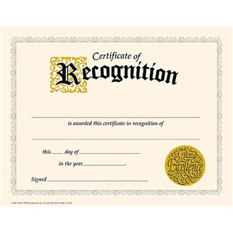 trend enterprises certificate templates t 11301 certificate of recognition classic certificates