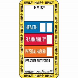 standard hazcom hmis label 1quot x 2quot paper labelmaster With hmis labels printable