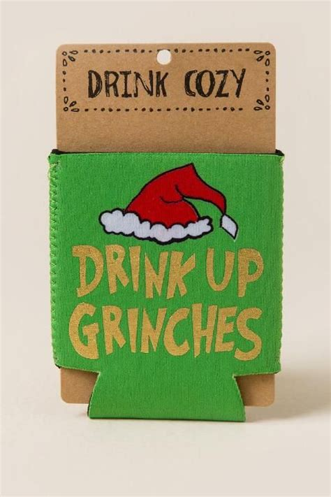 drink  grinches coozie gift cl christmas grinch