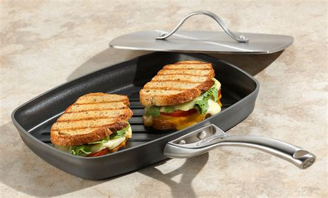calphalon contemporary nonstick panini pan  press  cutlery
