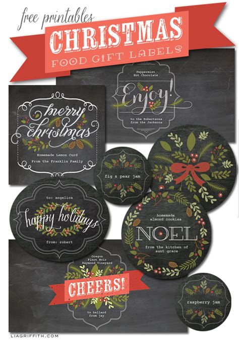 chalkboard style christmas labels  gifts worldlabel blog